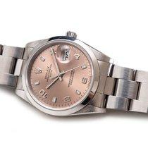 Rolex Oyster Perpetual Date Acier 34mm Rose Sans chiffres France, Paris