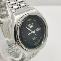Seiko 5 Steel 40mm Black No numerals