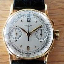 Patek Philippe Chronograph pre-owned 33mm Silver Chronograph Crocodile skin