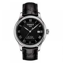 Tissot Le Locle Steel 39.3mm Black Roman numerals
