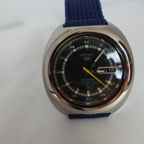 Seiko 5 Sports Acier 39mm Bleu Sans chiffres