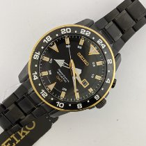 Seiko Sportura Steel 44mm Black No numerals