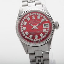 Rolex Or blanc Rouge occasion Oyster Perpetual Lady Date