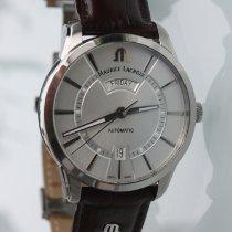 Maurice Lacroix Pontos Day Date Stahl 41mm Silber Keine Ziffern