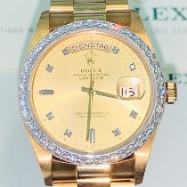 Rolex Day-Date Or jaune 36mm Or Sans chiffres