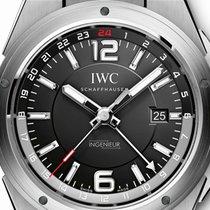IWC Ingenieur Dual Time Stahl 43mm Schwarz Römisch