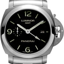 Panerai Luminor 1950 3 Days GMT Automatic neu Automatik Uhr mit Original-Box PAM00329