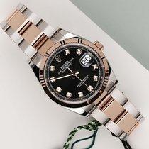 Rolex Datejust Gold/Steel 36mm Black