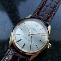 Rolex Yellow gold Automatic Silver 34mm pre-owned Oyster Perpetual