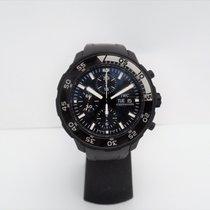IWC Aquatimer Chronograph Steel 45mm Black No numerals