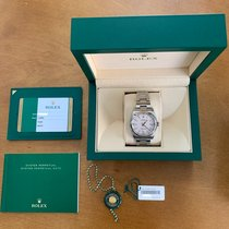 Rolex Oyster Perpetual 36 Steel 36mm Silver Arabic numerals United States of America, Massachusetts, Cambridge