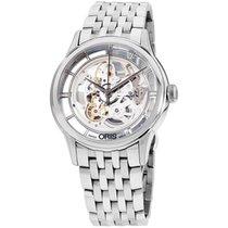 Oris Artelier Translucent Skeleton nuevo Automático Reloj con estuche original 01 734 7684 4051-MB