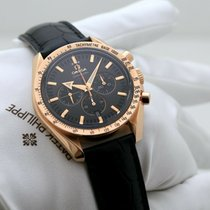 Omega Or rose Remontage automatique Sans chiffres 42mm occasion Speedmaster Broad Arrow