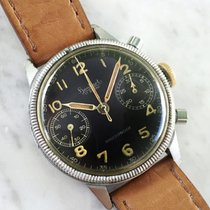 Hanhart Steel 41mm Manual winding VINTAGE HANHART CHRONOGRAPH MILITARY WW2 WK2 RAF LUFTWAFFE WWW DIRTY DOZEN pre-owned