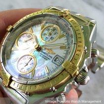 Breitling Chronomat VINTAGE AUTOMATIC AUTOMATIK CHRONOGRAPH MOTHER OF PEARL MOP B13050 B13501 B13050.1 1992 gebraucht