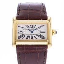 Cartier Tank Divan pre-owned 32mm Silver Leather