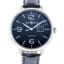 Bell & Ross Vintage pre-owned 45mm Black Date Leather