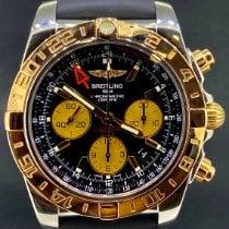 Breitling Chronomat 44 GMT Or/Acier 44mm Noir Sans chiffres