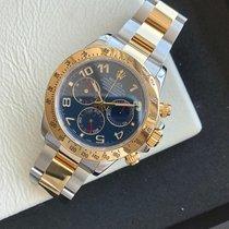 Rolex Daytona Gold/Stahl 40mm Blau Arabisch