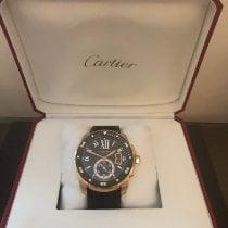 Cartier Calibre de Cartier Diver Oro rosa 42mm Negro Romanos