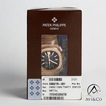 Patek Philippe Nautilus Złoto różowe 40mm Czarny Bez cyfr