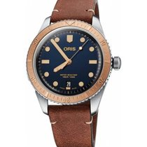 Oris Divers Sixty Five Blue No numerals
