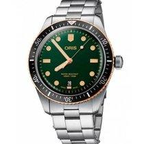 Oris Divers Sixty Five Green No numerals