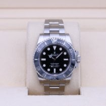 Rolex Submariner (No Date) Сталь 40mm Чёрный Без цифр