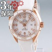 Omega Красное золото Автоподзавод Белый 37.5mm подержанные Seamaster Planet Ocean