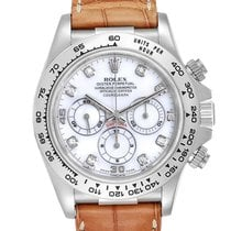 Rolex White gold Automatic Mother of pearl 40mm pre-owned Daytona
