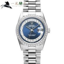 Rolex Day-Date Platine 36mm Bleu