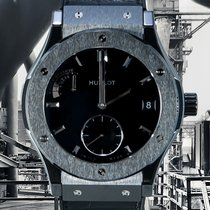 Hublot pre-owned Manual winding 45mm Black Sapphire crystal