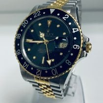 Rolex GMT-Master Gold/Steel 40mm Black No numerals