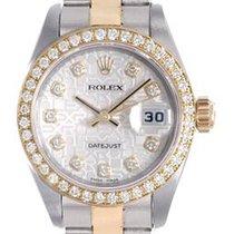 Rolex Lady-Datejust 26mm Srebrny Bez cyfr