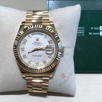 Rolex Day-Date II Or jaune 41mm Blanc Romains France, neuilly sur seine