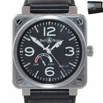Bell & Ross BR 01-97 Réserve de Marche Steel 46mm Black Arabic numerals United States of America, New York, Huntington
