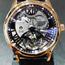 Chopard new Manual winding Rose gold Sapphire crystal