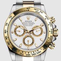Rolex Daytona Acero y oro 40mm Blanco Sin cifras