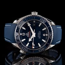 Omega Seamaster Planet Ocean pre-owned 45.5mm Blue Date Rubber