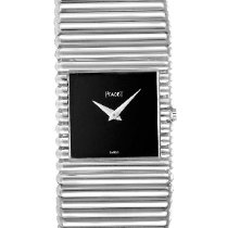 Piaget White gold Manual winding Black 25mm pre-owned Polo