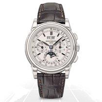 Patek Philippe Perpetual Calendar Chronograph White gold 40mm Silver No numerals