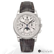 Patek Philippe 5970G-001 White gold Perpetual Calendar Chronograph 40mm pre-owned