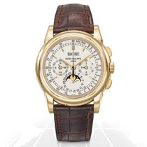 Patek Philippe Perpetual Calendar Chronograph Yellow gold 40mm Silver No numerals