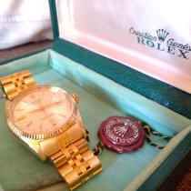 Rolex Oyster Perpetual 36 Yellow gold 36mm White No numerals