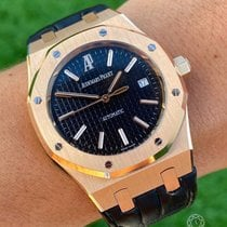 Audemars Piguet 15300OR.OO.D002CR.01 Rose gold 2008 Royal Oak Selfwinding 39mm pre-owned