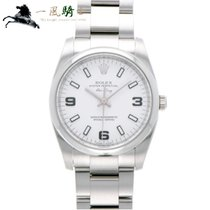 Rolex Oyster Perpetual 34 usados 34mm Blanco Acero