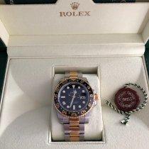 Rolex Or jaune Remontage automatique Noir Sans chiffres 40mm occasion GMT-Master II