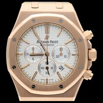 Audemars Piguet Royal Oak Chronograph Or rose 41mm Argent Sans chiffres