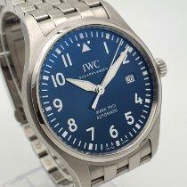 IWC Pilot Mark Çelik 40mm Mavi Arap rakamları