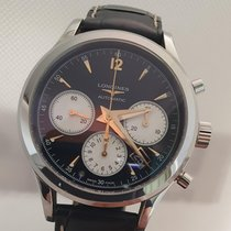 Longines Column-Wheel Chronograph Zeljezo 41mm Crn